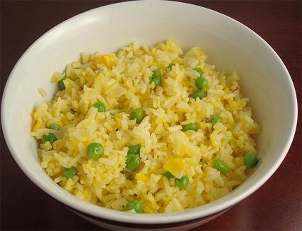 рецепт риса с горошком