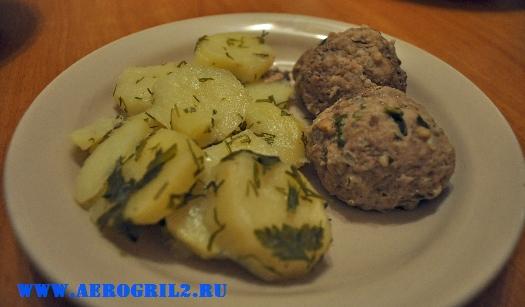 Котлеты в пароварке с картофелем