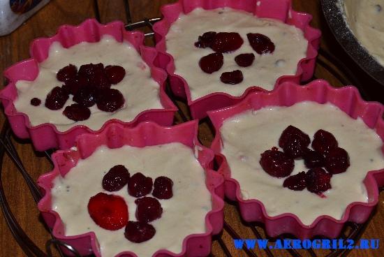 Творожные кексы с ягодами