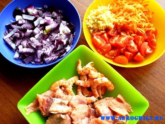 Суп из рыбы и креветок