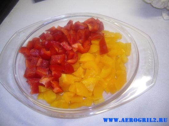 Цветная капуста с баклажанами и болгарским перцем