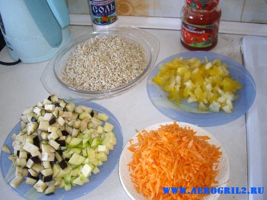 Ячменная (перловая) каша с овощами