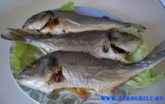 Грилованная рыба дорада