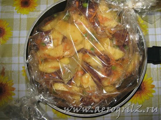 Индюшиные сердечки с картофелем