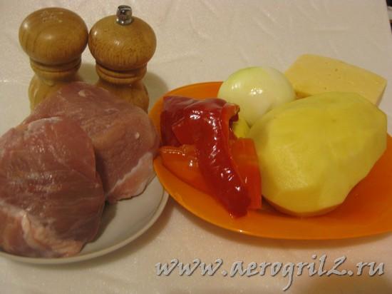 Запеканка из тёртого картофеля с мясом