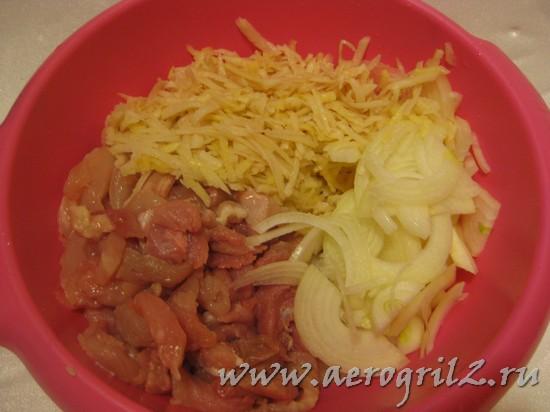 Котлеты с начинкой из картофеля