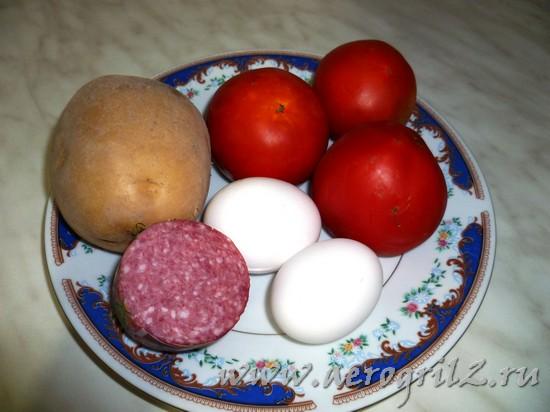 Яичница с помидорами в мультиварке