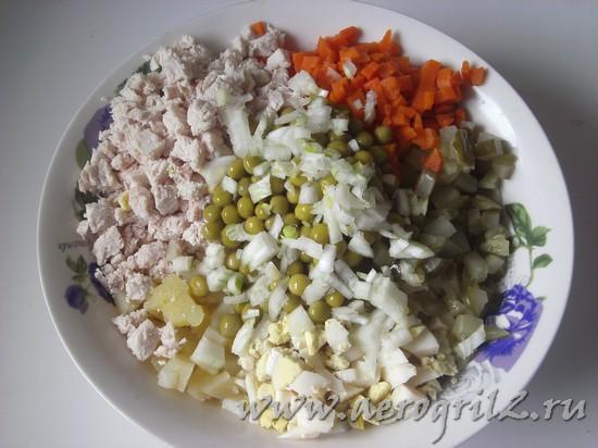 салат оливье с курицей