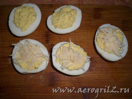 Фаршированные яйца-гриль